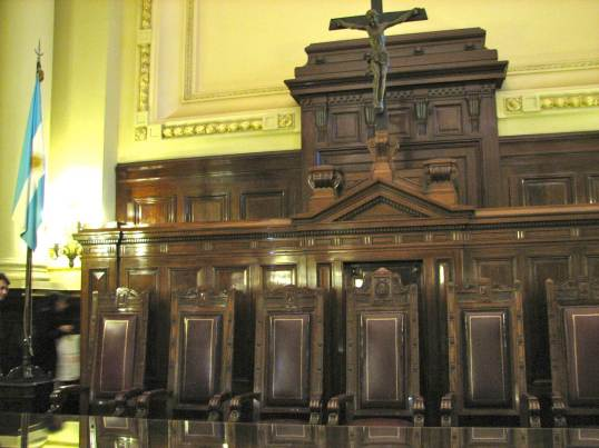 Courtroom used by the Argentine Supreme Court