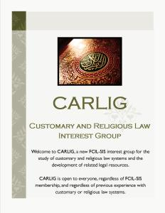 Front page of CARLIG flyer distributed at FCIL-SIS Exhibit Hall table.