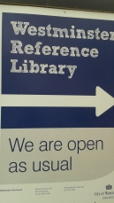 IALL Oxford library sign