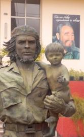 Cuba - Che Guevara statue with boy