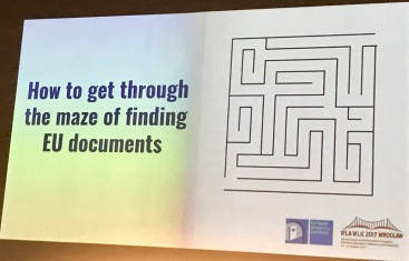 Program Slide - Finding EU Documents - Perspectives From a Research Library