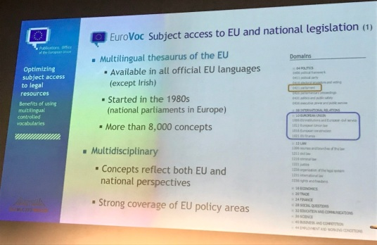 Program Slide - Optimizing Subjerct Acess to Legal Resources - EuroVoc - Multilingual Controlled Vocabulary