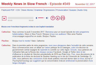 Screenshot-2017-11-6 News in Slow French Learn French Online