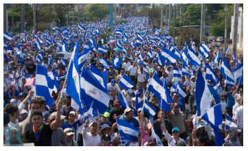 Between April and September 2018, massive marches throughout the country they demanded democracy, justice and the end of the dictatorship.